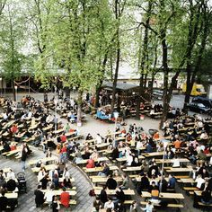#BERLIN: Prater Garten serves up classic German cuisine both at an outdoor beer garden and in a beer-hall-style dining room. Plop down at a picnic table and order a wiener schnitzel or a tasty bratwurst (or two) and a mug of beer.
