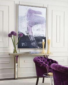Shop Sarita Mirrored Console from Haute House at Horchow, where you'll find new lower shipping on hundreds of home furnishings and gifts. Home Modern, Modern Decor, Modern Chairs, Modern Sofa, Rustic Modern, Art Violet, Lila Sofa, Purple Furniture, Luxury Furniture