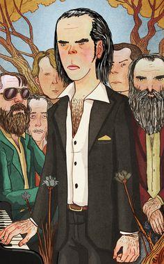 Nick Cave & The Bad Seeds por Cristobla Fortunez.