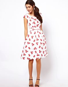 Emily and Fin Rachel dress in Strawberry Print