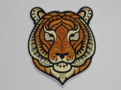 Majestic Tiger - Iron On Embroidery Patch MTCoffinz - Choose Size Iron On Embroidery, Japanese Embroidery, Embroidery Patches, Embroidery Thread, Cross Stitch Embroidery, Machine Embroidery Designs, Embroidery Patterns, Embroidered Patch, Sew On Patches