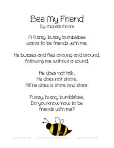 Explore friendship with original Valentine's day poetry! If you enjoy this preview, please consider my Bee My Friend: Valentine's Day Collectio...