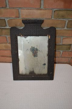 Antique Black Forest Tramp Art Mirror with Original Mirror Finish Good Condition  | eBay