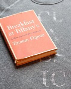vintage books, truman capot, breakfast at tiffanys, poster, read, movi, book covers, tiffani, old books