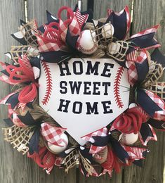 Baseball Wreaths, Sports Wreaths, Sweet Home, House Beautiful