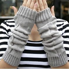 Fashion Big Girls Knitting Winter Gloves Snowflake Love Pattern Women touch screen Gloves for Mom Dad