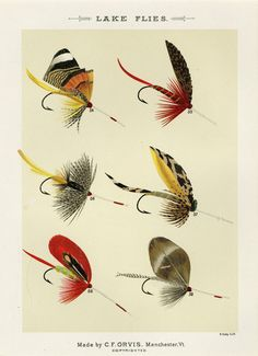 Fishing Decor Vintage Fly Fishing Lure Print Lake Flies Print Beach House Cabin Decor Fishing Wall Art Gift For Dad Birthday by plaindealing on Etsy Best Dad Gifts, Gifts For Dad, Fly Fishing Lures, Trout Fishing, Fishing Reels, Fishing Tips, Fish Gallery, Gallery Wall, Thing 1