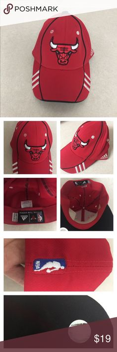 Adidas Chicago Bulls hat Adidas Chicago Bulls hat, New! Has a little dirt on it pictured .. due to storage. Pls ask all questions prior to purchase. Price Firm💎 Adidas Accessories Hats