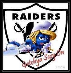 Raiderette Raider Nation Smurf