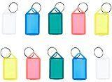 Schlüsselanhänger / Klapp-Anhänger aus Kunststoff mit Ring aufklappbar und beidseitig lesbar (50 Stück)