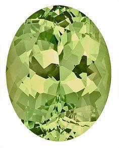Genuine Grossular Garnet Loose Gemstone, Medium Green, Oval Cut, 10.8 x 8.5 mm, 4.02 Carats at BitCoin Gems