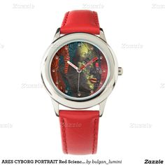ARES CYBORG PORTRAIT Red Science Fiction Sci-Fi Watch