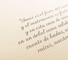 PLIEGUES Diseño en Papel: Frases para Partes de Matrimonio