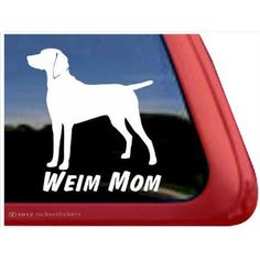 Weim Mom ~ Weimaraner Vinyl Window Auto Decal Sticker, $6.49