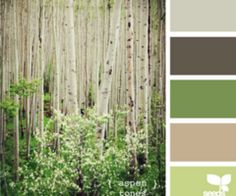 Good color palette.  Could keep walls the same color and bring in the greens as accent colors.