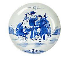 Piatto cinese vecchia manifattura dipinto a mano mayleen for Piatto cinese