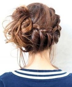 Adorable Braided Prom Hairstyle