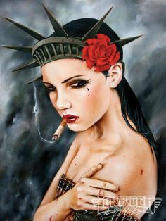 Brian Viveros/ That's what Lady Liberty looks like right now ! I think she's pissed !!