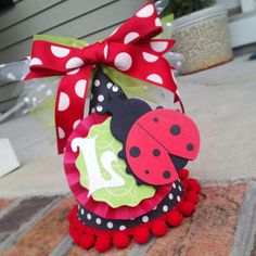Lady Bug Party Hat  Black  Red  Green  White by AllisonHopeDesigns, $28.00