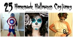 Looking to save money or just love making your own costumes for Halloween? Here's 25 AWESOME ideas for Homemade Halloween Costumes to try out- we have easy, medium and some with a little more skill set!! Either way- you have a variety of ideas to pick from! Get creative this year!!  Halloween, halloween costumes ideas, best halloween costumes