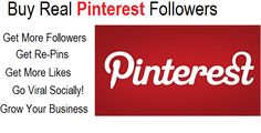 ✔✔NO ADMIN ACCESS✔✔100% REAL FOLLOWERS✔✔100% LEGIT✔✔TURNAROUND TIME ONY 72 HOURS✔✔ I will get you 200 REAL followers on your pinterest Account, 200+ repins and 200+ likes it is the Best Deal On Fiverr. It's a great way to get HUGE exposure to your blog, website, promotion page, craft ideas. Check the bonuses: For every 2 orders you'll get 25 free followers.  GRAB IT NOW!!!!!!! http://tinyurl.com/6py9gsl