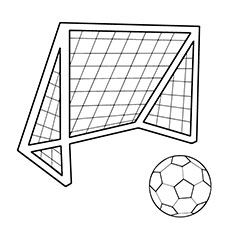 Soccer Ball Coloring Page For Kids Kids soccer Soccer ball and Craft