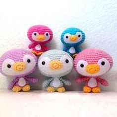Cute Penguin Family amigurumi crochet pattern by A Morning Cup of Jo Creations