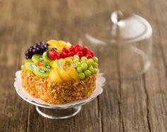 Dollhouse Miniature Food Mixed Fruits Swiss Roll 1/12