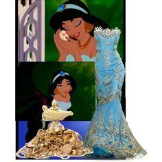 Princess jasmine inspired prom dress disney & non-disney in Disney Princess Dresses, Disney Dresses, Disney Outfits, Prom Dresses, Bridesmaid Dress, Wedding Dresses, Princess Jasmine Wedding, Aladdin Wedding, Disney Prom