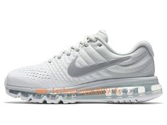 brand new 0f370 b8781 Nike Air Max 2017 GS Blanc Gris Chaussures Nike Running Pas Cher Pour Femme  Enfant