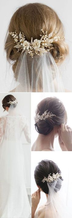 Top 20 Wedding Hairstyles with Veils and Accessories   Forevermorebling   Wedding Blog
