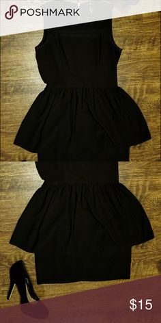 Size 6 black dress and converse