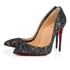 a26cbfb62fa22 PIGALLE FOLLIES GLITTER DRAGONFLY 100 Noir Glitter - Souliers Femme -  Christian Louboutin
