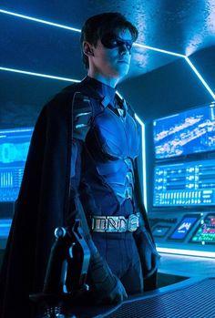 """Dick Grayson in Titans - Asylum. Titans Tv Series, Dc Tv Series, Dc Comics Heroes, Dc Comics Characters, Dc Universe, Nightwing, Batwoman, Richard Grayson, Robin Dc"