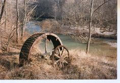 Remains of an old Grist Mill Waterwheel... Taken just off of Tunnel Mill Road near Charlestown, Indiana.