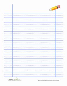 If your little writer needs help perfecting his handwriting, you can print out your very own lined handwriting paper from home with this template! For more fun challenges in penmanship, browse our handwriting worksheets. Lined Handwriting Paper, Cursive Handwriting, Handwriting Worksheets, Handwriting Practice, Handwriting Exercises, Dyslexia Teaching, Teaching Resources, Teaching Cursive, Pre Writing