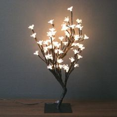 would be adorable on a desk #lamp #flowers