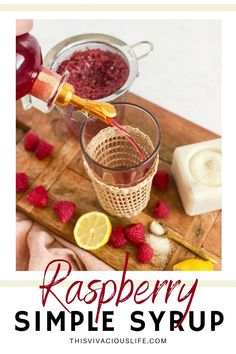 This raspberry simple syrup is so versatile! It only takes a few minutes to make and can be used for mocktails and drinks as well as cakes and dessert. Grilling Recipes, Crockpot Recipes, Summer Recipes, Great Recipes, Eggnog Cake, Raspberry Desserts, Homemade Syrup, Simple Sugar, Cold Desserts