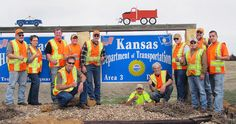 KDOT employees at the Hays Area Office. They are participating in National Work Zone Awareness Week, April 15-19, and wearing orange to show their support for highway workers across Kansas to raise awareness on the need for safety in work zones. Find out more about KDOT's work zone safety efforts at www.ksdot.org and click on the Go Orange logo.