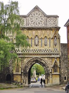 Gatehouse of Norwich Cathedral, Norfolk, England by gareth1953