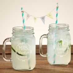 Perfect Pair Mason Drinking Jar (Set of 2)