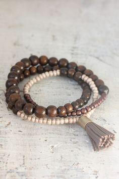 Wooden Wrap Bracelet - Chocolate