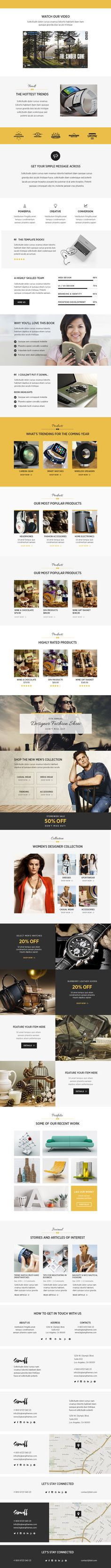 Showoff - Stylish Multipurpose Email + Builder Access - Marketing