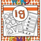 'ig' Word Family Word Work