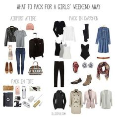 What to pack for a girls' weekend away - illistyle.com