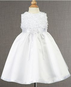 Baby and Toddler Girl White Linen Dress with Hemstitching ...