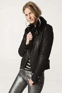warm leather jacket (Massimo Dutti)