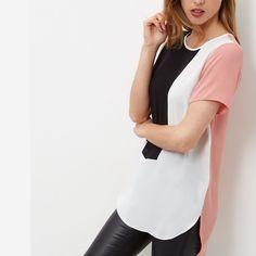 New 2017 Spring Chiffon Shirt Top Plus Size Casual Short Sleeve O-Neck Patchwork Women Blouses Fashion Sexy Irregular Hem Blusas Chiffon Shirt, Chiffon Tops, Chiffon Blouses, Chiffon Kimono, Blouses For Women, T Shirts For Women, Plus Size Casual, Casual Tops, E Bay