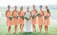 We are loving these ladies in orange! // Jared Ladia Photography