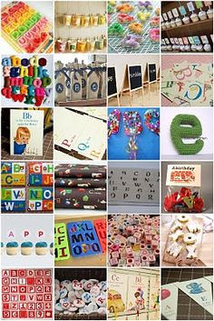 Great inspiration for an alphabet themed party